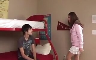 Teen shemale LOVES first time with boyfriend