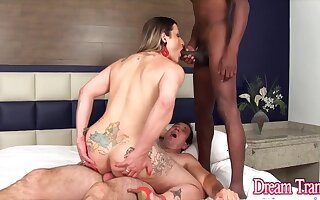 Dream Tranny - Trans Sluts Double Teamed by Two Guys Compilation