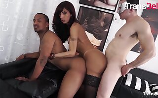 Karla Ciccarelli lewd Brazilian ladyboy acquires Her latina booty plowed Hard By Two cocks