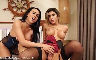 Spend walk out on an hour inside the asses be worthwhile for kinky Patricia Tavares and Paty Cameron
