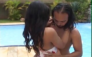 Small boobs shemale Layla Amorim moans during lifelike sex